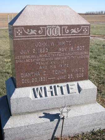 TOWER WHITE, DIANTHA E. - Cuming County, Nebraska | DIANTHA E. TOWER WHITE - Nebraska Gravestone Photos