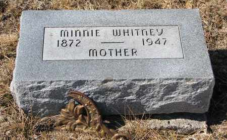 WHITNEY, MINNIE - Cuming County, Nebraska   MINNIE WHITNEY - Nebraska Gravestone Photos