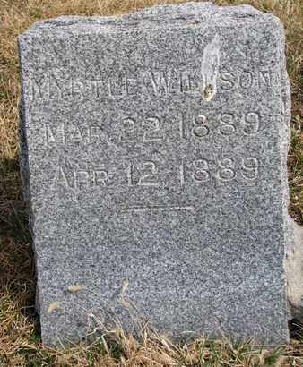 WILLSON, MYRTLE - Cuming County, Nebraska | MYRTLE WILLSON - Nebraska Gravestone Photos