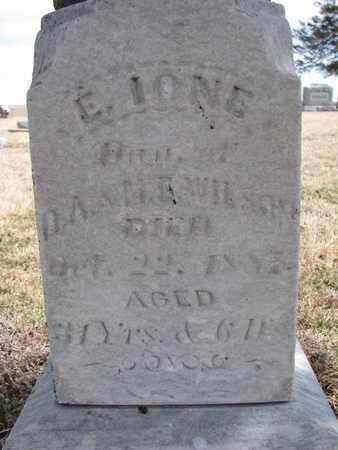 WILSON, E. IONE (CLOSEUP) - Cuming County, Nebraska   E. IONE (CLOSEUP) WILSON - Nebraska Gravestone Photos