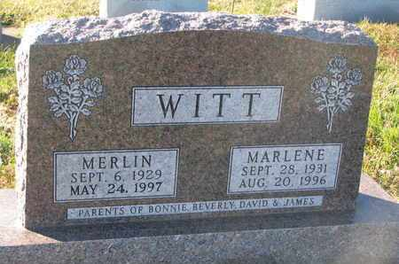 WITT, MARLENE - Cuming County, Nebraska | MARLENE WITT - Nebraska Gravestone Photos