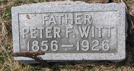WITT, PETER F. - Cuming County, Nebraska | PETER F. WITT - Nebraska Gravestone Photos