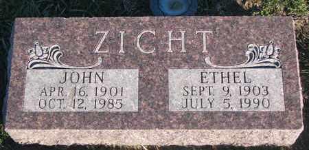ZICHT, ETHEL - Cuming County, Nebraska   ETHEL ZICHT - Nebraska Gravestone Photos