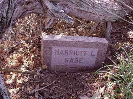GAGE, HARRIETT L. - Custer County, Nebraska | HARRIETT L. GAGE - Nebraska Gravestone Photos