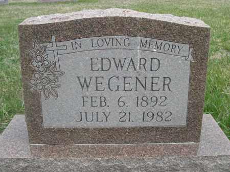 WEGENER, EDWARD - Custer County, Nebraska | EDWARD WEGENER - Nebraska Gravestone Photos