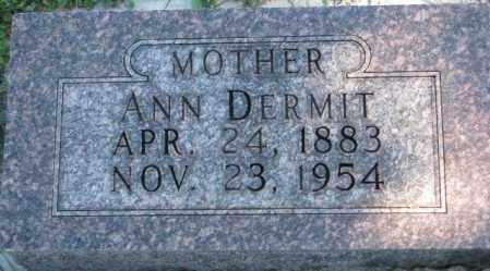 DERMIT, ANN - Dakota County, Nebraska | ANN DERMIT - Nebraska Gravestone Photos