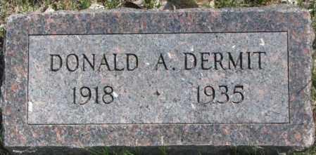 DERMIT, DONALD A. - Dakota County, Nebraska   DONALD A. DERMIT - Nebraska Gravestone Photos