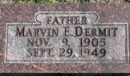 DERMIT, MARVIN E. - Dakota County, Nebraska   MARVIN E. DERMIT - Nebraska Gravestone Photos