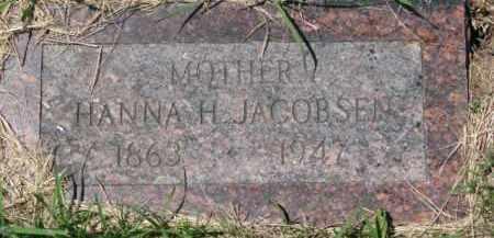 JACOBSEN, HANNA H. - Dakota County, Nebraska   HANNA H. JACOBSEN - Nebraska Gravestone Photos