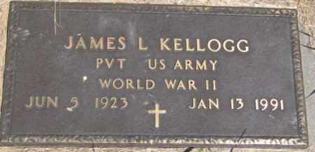 KELLOGG, JAMES L (WW II MARKER) - Dakota County, Nebraska | JAMES L (WW II MARKER) KELLOGG - Nebraska Gravestone Photos