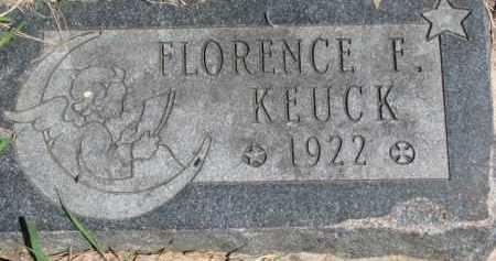 KEUCK, FLORENCE F. - Dakota County, Nebraska   FLORENCE F. KEUCK - Nebraska Gravestone Photos