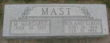 MAST, M. MARGARET - Dakota County, Nebraska | M. MARGARET MAST - Nebraska Gravestone Photos