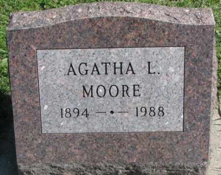 MOORE, AGATHA L. - Dakota County, Nebraska | AGATHA L. MOORE - Nebraska Gravestone Photos