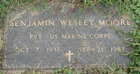 MOORE, BENJAMIN WESLEY - Dakota County, Nebraska | BENJAMIN WESLEY MOORE - Nebraska Gravestone Photos