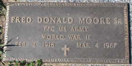 MOORE, FRED DONALD SR. - Dakota County, Nebraska | FRED DONALD SR. MOORE - Nebraska Gravestone Photos