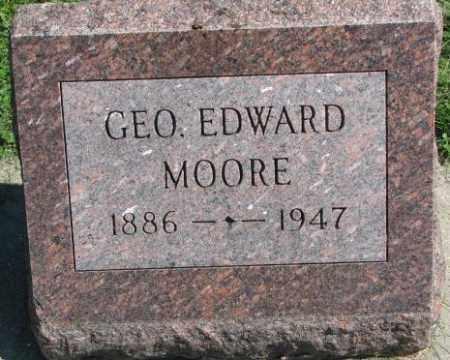 MOORE, GEORGE EDWARD - Dakota County, Nebraska | GEORGE EDWARD MOORE - Nebraska Gravestone Photos