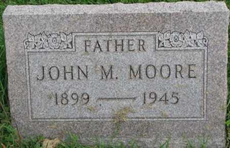 MOORE, JOHN M. - Dakota County, Nebraska | JOHN M. MOORE - Nebraska Gravestone Photos