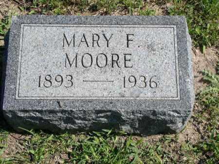 MOORE, MARY F. - Dakota County, Nebraska   MARY F. MOORE - Nebraska Gravestone Photos