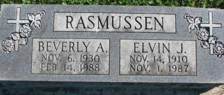 RASMUSSEN, ELVIN J. - Dakota County, Nebraska | ELVIN J. RASMUSSEN - Nebraska Gravestone Photos