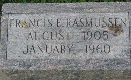 RASMUSSEN, FRANCIS E. - Dakota County, Nebraska | FRANCIS E. RASMUSSEN - Nebraska Gravestone Photos