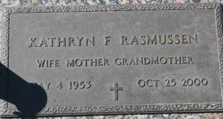 RASMUSSEN, KATHRYN F. - Dakota County, Nebraska | KATHRYN F. RASMUSSEN - Nebraska Gravestone Photos