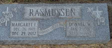 RASMUSSEN, DONALD W. - Dakota County, Nebraska | DONALD W. RASMUSSEN - Nebraska Gravestone Photos