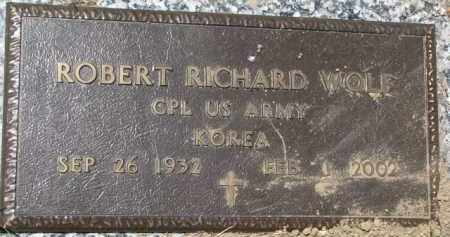 WOLF, ROBERT RICHARD (MILITARY MARKER) - Dakota County, Nebraska | ROBERT RICHARD (MILITARY MARKER) WOLF - Nebraska Gravestone Photos