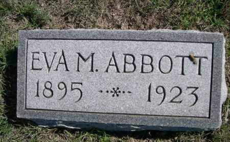 ABBOTT, EVA M. - Dawes County, Nebraska | EVA M. ABBOTT - Nebraska Gravestone Photos