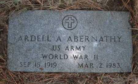 ABERNATHY, ARDELL A. - Dawes County, Nebraska | ARDELL A. ABERNATHY - Nebraska Gravestone Photos