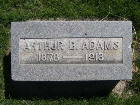 ADAMS, ARTHUR B. - Dawes County, Nebraska | ARTHUR B. ADAMS - Nebraska Gravestone Photos