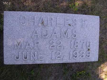 ADAMS, CHARLES F. - Dawes County, Nebraska   CHARLES F. ADAMS - Nebraska Gravestone Photos