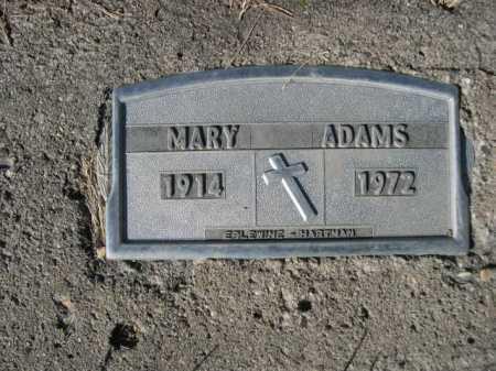 ADAMS, MARY - Dawes County, Nebraska | MARY ADAMS - Nebraska Gravestone Photos