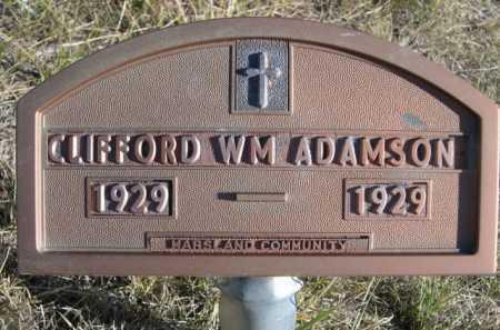 ADAMSON, CLIFFORD WM. - Dawes County, Nebraska   CLIFFORD WM. ADAMSON - Nebraska Gravestone Photos