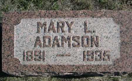 ADAMSON, MARY L. - Dawes County, Nebraska   MARY L. ADAMSON - Nebraska Gravestone Photos