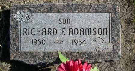 ADAMSON, RICHARD F. - Dawes County, Nebraska | RICHARD F. ADAMSON - Nebraska Gravestone Photos