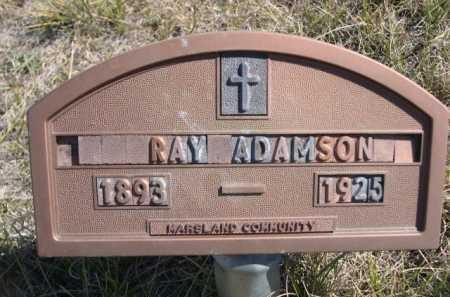 ADAMSON, RAY - Dawes County, Nebraska   RAY ADAMSON - Nebraska Gravestone Photos