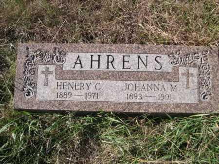 AHRENS, JOHANNA M. - Dawes County, Nebraska | JOHANNA M. AHRENS - Nebraska Gravestone Photos