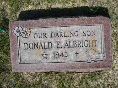 ALBRIGHT, DONALD E. - Dawes County, Nebraska | DONALD E. ALBRIGHT - Nebraska Gravestone Photos