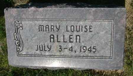 ALLEN, MARY LOUISE - Dawes County, Nebraska | MARY LOUISE ALLEN - Nebraska Gravestone Photos