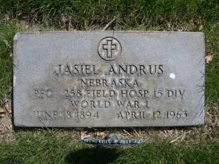 ANDRUS, JASIEL - Dawes County, Nebraska   JASIEL ANDRUS - Nebraska Gravestone Photos