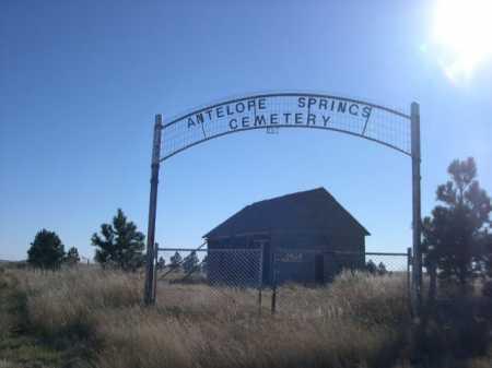 ANTELOPE SPRINGS CEMETERY, ENTRANCE TO - Dawes County, Nebraska   ENTRANCE TO ANTELOPE SPRINGS CEMETERY - Nebraska Gravestone Photos