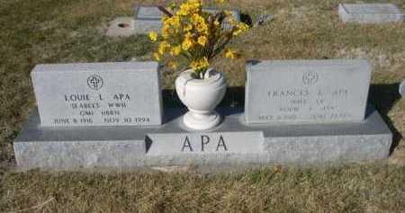 APA, FRANCES - Dawes County, Nebraska | FRANCES APA - Nebraska Gravestone Photos