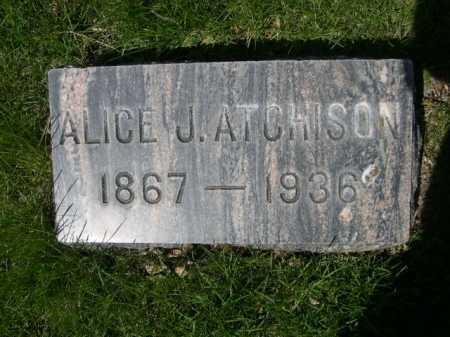 ATCHISON, ALICE J. - Dawes County, Nebraska   ALICE J. ATCHISON - Nebraska Gravestone Photos