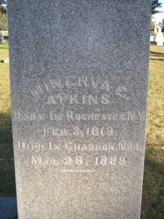 ATKINS, MINERVA E. - Dawes County, Nebraska | MINERVA E. ATKINS - Nebraska Gravestone Photos
