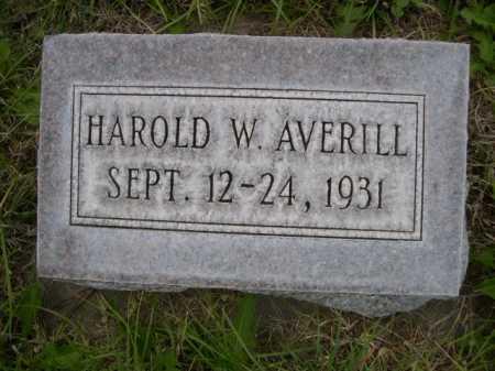 AVERILL, HAROLD W. - Dawes County, Nebraska | HAROLD W. AVERILL - Nebraska Gravestone Photos