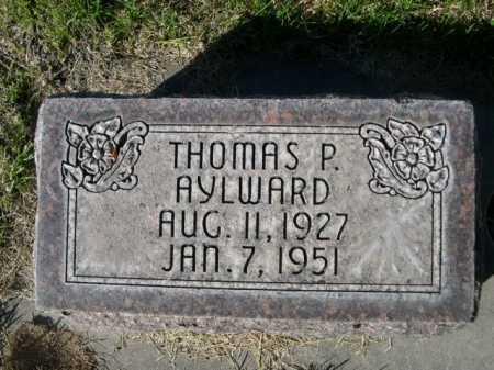 AYLWARD, THOMAS P. - Dawes County, Nebraska | THOMAS P. AYLWARD - Nebraska Gravestone Photos