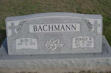 BACHMANN, RUTH E. - Dawes County, Nebraska | RUTH E. BACHMANN - Nebraska Gravestone Photos