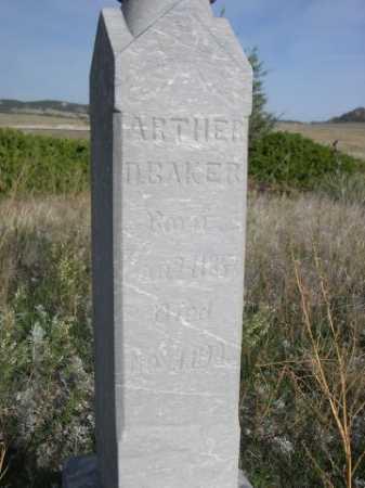 BAKER, ARTHER - Dawes County, Nebraska   ARTHER BAKER - Nebraska Gravestone Photos