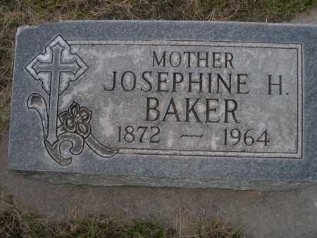 BAKER, JOSEPHINE H. - Dawes County, Nebraska   JOSEPHINE H. BAKER - Nebraska Gravestone Photos
