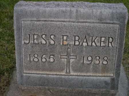 BAKER, JESS E. - Dawes County, Nebraska   JESS E. BAKER - Nebraska Gravestone Photos